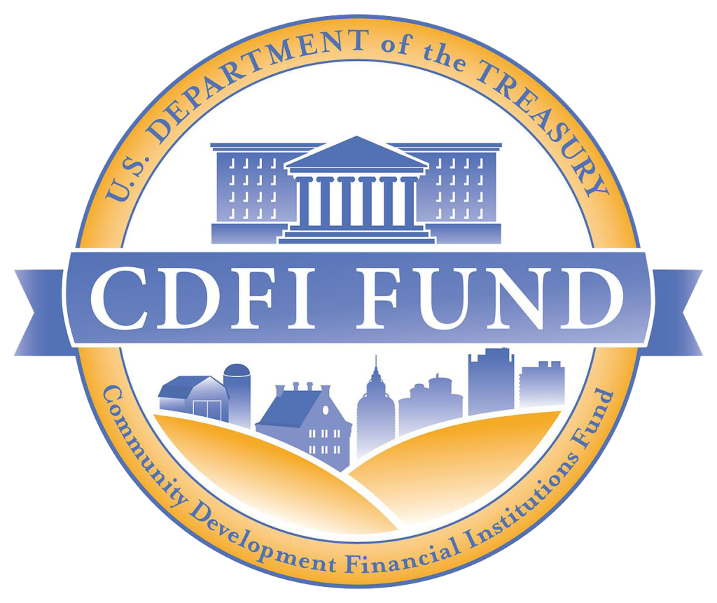 Blue and gold CDFI fund logo